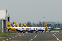 MONARCH & AIR BERLIN storage (shanairpic) Tags: jetairliner airbus a321 a320 monarch airberlin shannon