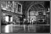 Ghosts in The Kings Hall, Bamburgh Castle (coldnebraskablue) Tags: bamburghcastle northumberland hall panelling stately blackandwhite bw wood paintings people room arch furniture kingshall texture listed grade1 nikond7100 1855 tapestry floor flooring victorian teak