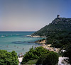 Sardinia - Porto Giunco Beach  (Large Format) (tjreboot) Tags: sardinia italy vacation holiday beach fuji fujifilm print film analog scan scanner color sharpness 4x5 graflex pacemaker speed graphic large format camera vintage sheet pro 160s schneider super symmar hm 120mm