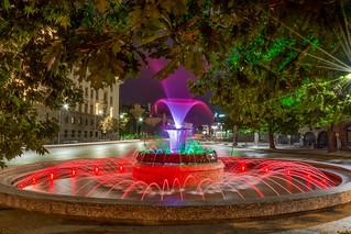 Colorfull fountain in Sofia,Bulgaria