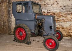 Held der Arbeit (krieger_horst) Tags: brandenburg stahlwerk ddr traktor backstein maschine eigenbau