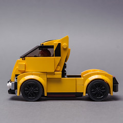 The Speed Champions 'Vette truck (KEEP_ON_BRICKING) Tags: lego moc speed champions 75870 alternate model chevrolet covertte custom design truck yellow