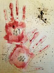 ragged edges (○ Hanna Lee ○) Tags: art artist artists abstractart abstract abstractartist abstractartists outsiderart outsiderartist outsiderartists naiveart naiveartist naiveartists artbrut watercolor watercolors
