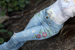 IMG_7316е (Sewing Fairy) Tags: bjd msd minifee fairyland doll jeans sewing fairy sweet etsy embroidery