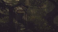 The unquiet grave (g a b r i e l l e s w i n d l e h u r s t) Tags: sl gridrowheights halloween graveyard monument grave cemetery horror lovely talesoffantasy alirium