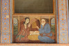 330. Exterior, Wall Painting, Chehelsotoon Palace Museum, Esfahan, Iran (Jay Ramji's Travels) Tags: iran middleeast esfahan isfahan persian persia pārsa chehelsotoonpalace decor museum wallpainting exterior
