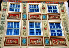 The facades of Gdańsk, Poland (jackfre 2) Tags: gdansk danzig city poland wealthy architecture hanseaticcity colourful building facades decoration sign windows
