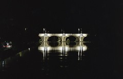 Pont de Tours (lazmattaz) Tags: film france tours bridge pont reflection rolleiflex sl66 kodak portra analogue