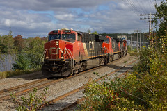 Containers Only - Rocky Lake, NS (CWentzell Photography) Tags: cn rail railroad railway freight train canadian national canada novascotia sky bedford windsorjunction rocky lake