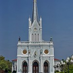 Nativity of Our Lady Cathedral by the Mae Klong river in Bang Nok Khwaek in Samut Songkhram province, Thailand thumbnail