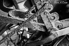 MEMORIES OF DAD (CharlesSmithPhotography) Tags: 500px retro old vintage abstract texture black white monochrome industry agriculture industrial close up country machine controls rural farm rusted memories iron steel rusty metal rust rustic nostalgia tractor antique strength farming weathered machinery plow lever levers life farmall pitted