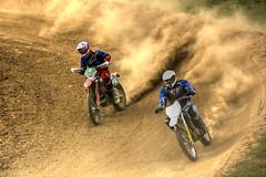 Neck & Neck (Andy Tee) Tags: motocross motorbike motorcycle sport dirt track yamaha honda suzuki racing hdr