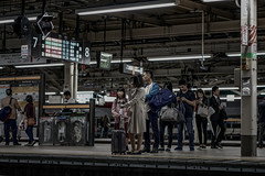 The line (karinavera) Tags: city night photography urban ilcea7m2 people trainstation tokyo japan line