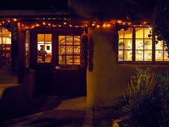 Dried chiles and orange lights (marcocarag) Tags: restaurant newmexico santafe