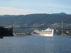 IMG_3752 Princess cruise ship under the Lions Gate Bridge (vancouverbyte) Tags: vancouver vancouverbc vancouvercity lionsgatebridge
