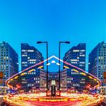 Robert Emmerich - 97 NLE - Mirror City - Long exposure Potsdamer Platz at Night 1 in Berlin - German thumbnail
