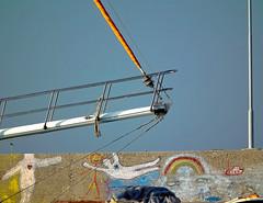 Graffiti Acrobats (Blues Views) Tags: collective52photoproject fujihs10camera sailboats sky graffiti