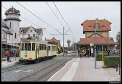 TTO 354 + 70 - De Haan (Spoorpunt.nl) Tags: 1 oktober 2017 tto noordzee kusttram gentse stadstram motorwagen 354 bijwagen 70 tram station de haan aan zee