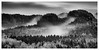 mist falling from the hills (Juhwie_Fotography) Tags: mist hills trees autumn fall kuhstall blackandwhite blackwhite monochrome sächsische schweiz elbsandsteingebirge beautifulgermany landscape landscapephotography ngc pentax pentaxart k1 ricohimaging hitech formatthitech firecrest haida