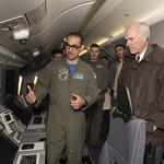 Secretary of the Navy Richard V. Spencer tours a P-8 Poseidon. thumbnail