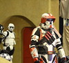 Troopers at Odds. (RICHARD OSTROM) Tags: starwars dslr swco orlando florida fans costume cosplay science fiction invasion imerial forces deadly just yup evil inner rock easy www lucas lucasfilm warrior america