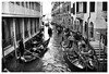 by the way (marcobertarelli) Tags: venice gondole gondolier canal prospective life traffic water reflections monochrome monochromatic people carry tourism street photography