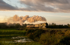 Golden age (Matt.Evans44871) Tags: 3p20 elr east lancashire railway 60009 uosa union of south africa charter steam train sunrise locomotive glint burrs bury