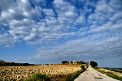 Cielo e terra (luporosso) Tags: natura nature naturaleza naturalmente nikon nuvole clouds paesaggio paesaggi landscapes scorcio scorci country countryside countryfarm cielo sky imdifferent nikonitalia nikonclubit marche italia italy civitanovamarche