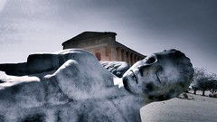 Fallen Icarus (DMCleveland) Tags: agrigento sicily icarus temple ruin antiquity italy sculpture statue roccotaco