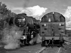 MRC2017-16 (Dreaming of Steam) Tags: 6233 46233 duchess duchessofsutherland heritage heritagerailways lms midlandrailwaycentre princesscoronation princesscoronationclass railway stainer steam steamengine sutherland train vintage engine locomotive railroad smoke steamlocomotive