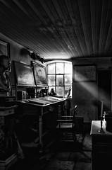 Artists. Workshop.jpg (douglasjarvis995) Tags: ricoh grii old retro historic history musician painter artist music northumberlandricohgriiholidayoctober2017 beamish mono monochrome bnw blackwhite