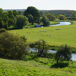 The River Nene viewed from the motte of Fotheringhay Castle thumbnail