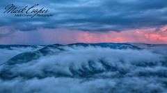 Grandview Sunrise (Mark-Cooper-Photography) Tags: canon 5d 5dmarkiii 5d3 1635mm 1635 markcooperphotography grandview west virginia wv raleigh county sunrise mountain hill gorge canyon valley clouds eerie mist fog rain