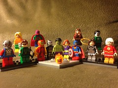 Hulk Forgot His Costume (David$19) Tags: lego legomarvel avengers halloween costumes antman hawkeye thor vision ironman warmachine hulk blackwidow captainamerica scarletwitch wintersoldier falcon quicksilver