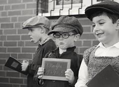boys (Wöwwesch) Tags: blackwhite boys vintage caps school children portraits