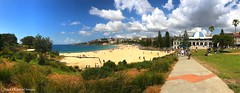 Coogee Beach, from Dunningham Reserve, Coogee, Sydney, NSW (Black Diamond Images) Tags: dunninghamreserve coogeebeach coogee sydney nsw australia beach australianbeaches sydneybeaches iphone appleiphone7plus iphone7plus panorama appleiphone7pluspanorama iphone7pluspanorama iphonepanorama sand sky sea tree grass people
