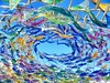 Swirling Surround (missgeok) Tags: sculpturebythesea 2017 bondi sculpturebytheseabondi sydney australia artwork dome fishes acrylic colours colourful birghtcolours 999fishes outdoor tamaramabeach vibrant scuplture