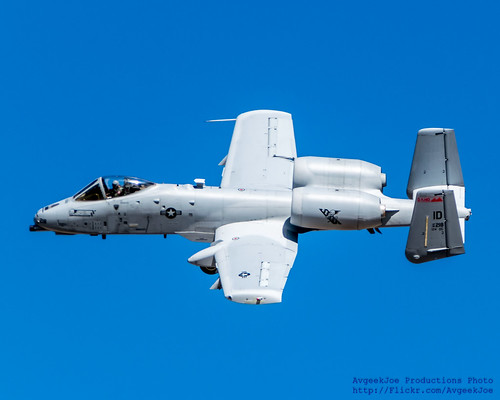 Idaho ANG A-10 Flying Against the Boise Blue