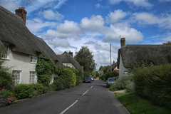 Briantspuddle, (crafty1tutu (Ann)) Tags: travel holiday 2017 unitedkingdom uk dorset briantspuddle thepuddles village cottages street road sky clouds thatchedroof presents chocolatebox crafty1tutu canon5dmkiii canon24105lserieslens anncameron building challenge