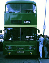 Slide 107-57 (Steve Guess) Tags: epsom downs surrey england gb uk racecourse lcbs london country strathclyde leyland atlantean an alexander 406f
