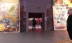 Through the doorway (daj333) Tags: venice biennale lumix fz300 art sculpture faces doorway portal