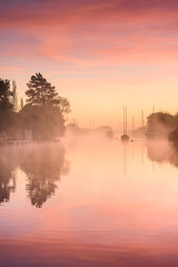 Wareham River Sunrise (Stu Meech) Tags: wareham river quay dorset sunrise fog mist nikon d750 70200 leefilters