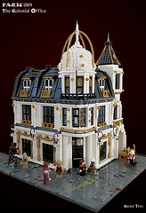 Paris Steampunk 1889 - The Colonial Office (CASTOR-TROY) Tags: modular building paris steampunk dome lego corner white