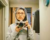 agfa portrait xps 160 ++ (Nazra Z.) Tags: selfportrait portrait selfie asian woman turban turbanista hoodie sweaterweather okayama japan 2017 autumn raw nikondf reflection mirror