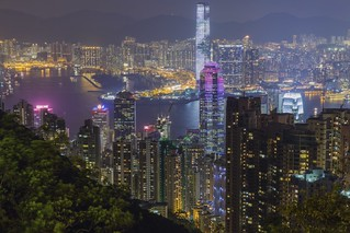 My trip to HongKong-  view from Victoria peak