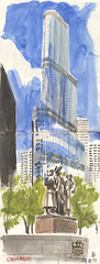 170728chicago03 (Vincent Desplanche) Tags: symposium urbansketchers usk uskchicago2017 correspondent sketch sketching sketchbook chicago usa croquis