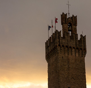 Old Keep Towering the Mayor's Town Hall, Arezzo