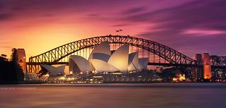 Sydney's Icons At Sunset || NSW || AUSTRALIA
