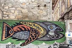 Street art of fish... (Pensive glance) Tags: graffiti image painting all mur mural streetart artderue