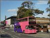 UNO 281, Northampton (Jason 87030) Tags: sn51sye 281 uno university westonfavell northants station railway bus transport northampton northamptonshire doubledecker alx400 decker trident dennis color colour pink purple pinkie everyone sunny october town 2017 19 sony ilce alpha a6000 nex lens new old vehicle publictransport busstop